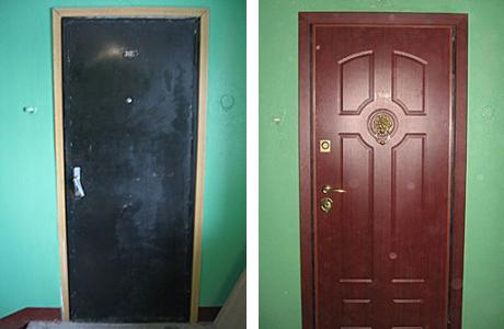 Монтаж дверных панелей МФД