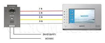 подключение видеодомофонов commax